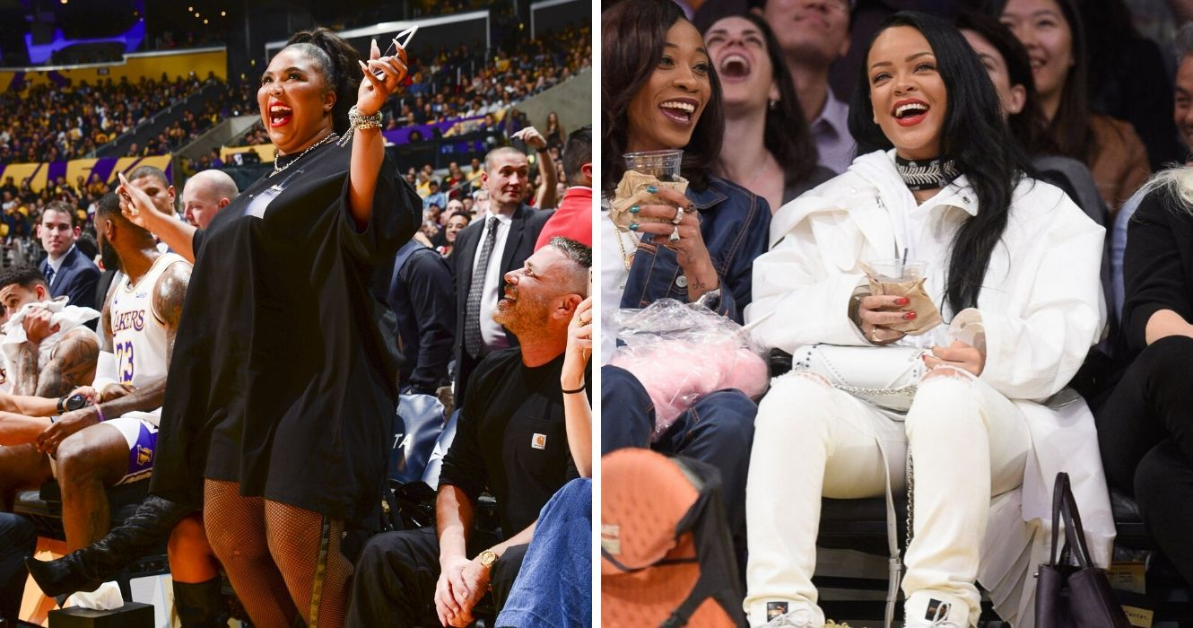 Lizzo Rihanna And 13 Female Celebs Treating Basketball Games Like A Fashion Show