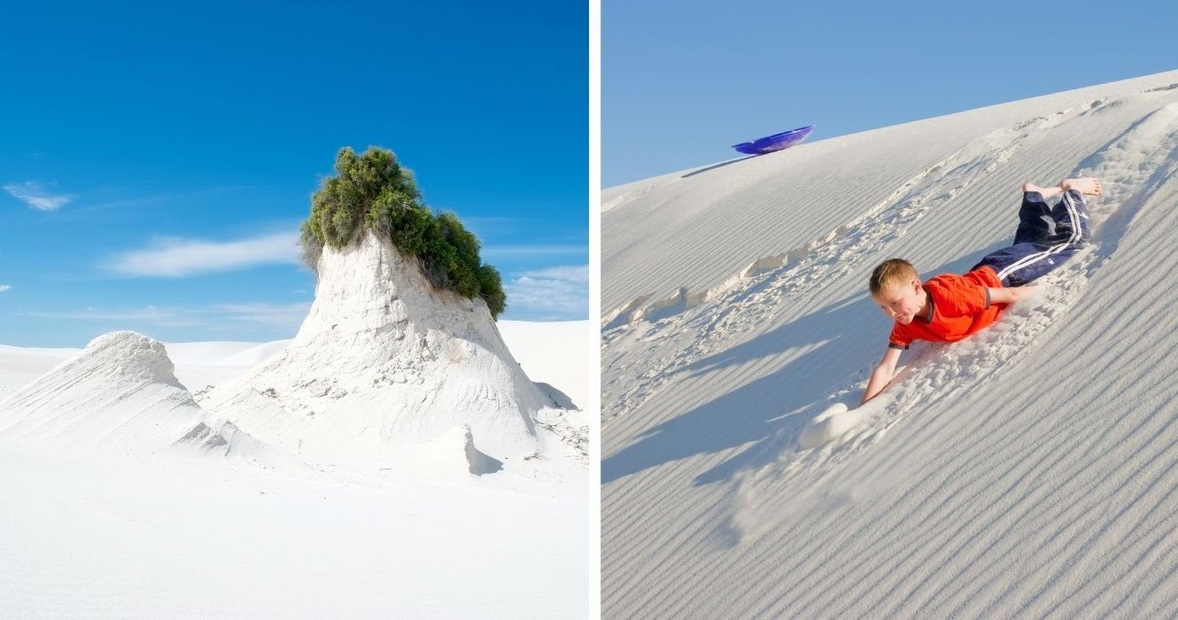 This New Mexico Park Is Home To More Than Just Hiking, Here's Where You Can Go Dune Sledding